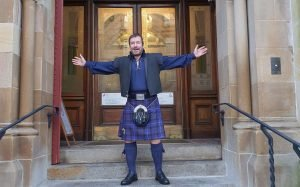 Driver outside Inverness town hall